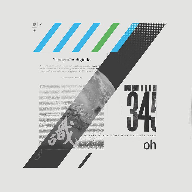 """""""Tipografia digitale"""" - Collage per il campionario di Printaly"""