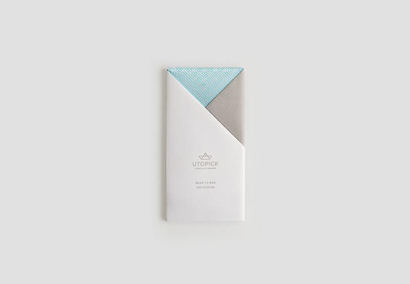 Il packaging per Utopick Chocolate progettato da Lavernia & Cienfuegos