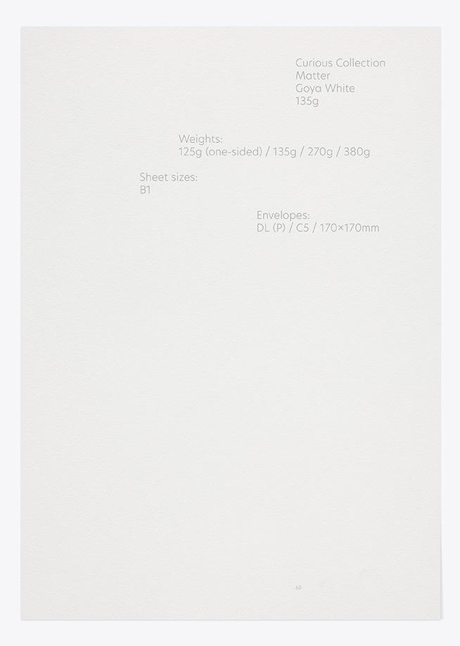 Curious Matter - Goya White