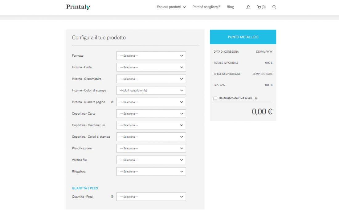 Il nuovo sito di Printaly! è online Più pulito, più bello e più funzionale