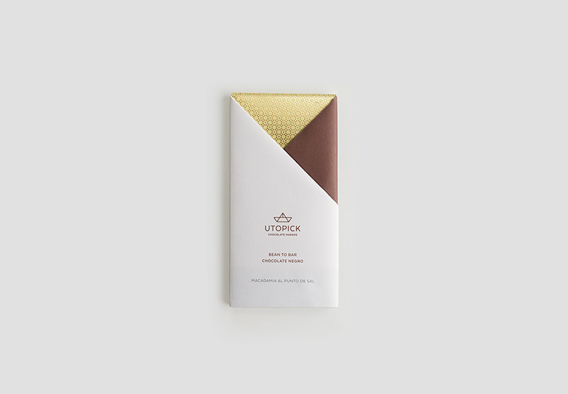 Il packaging per Utopick Chocolate progettato da Lavernia & Cienfuegos