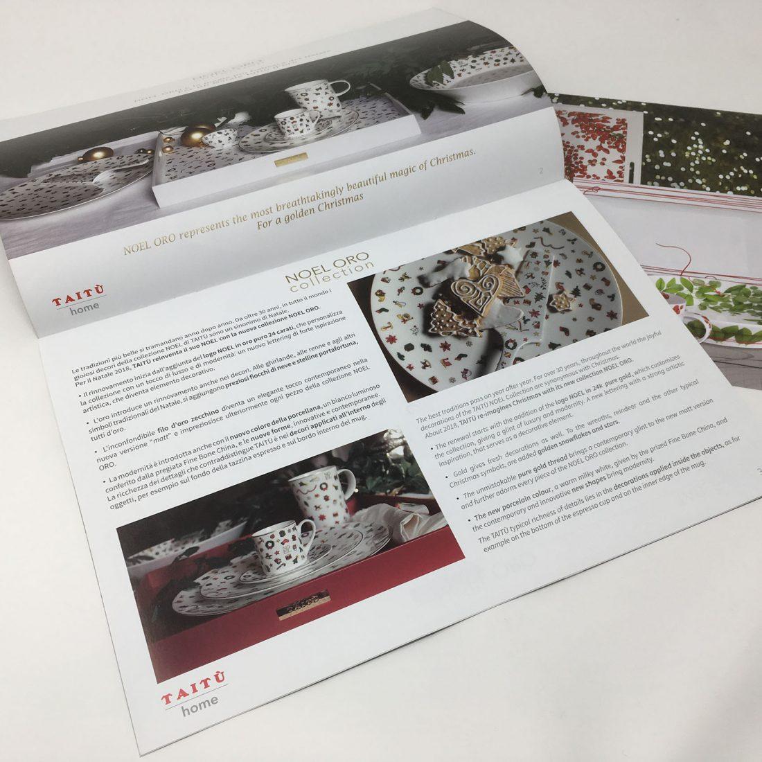 Taitù. Un coordinato visivo per l'azienda del design italiano.