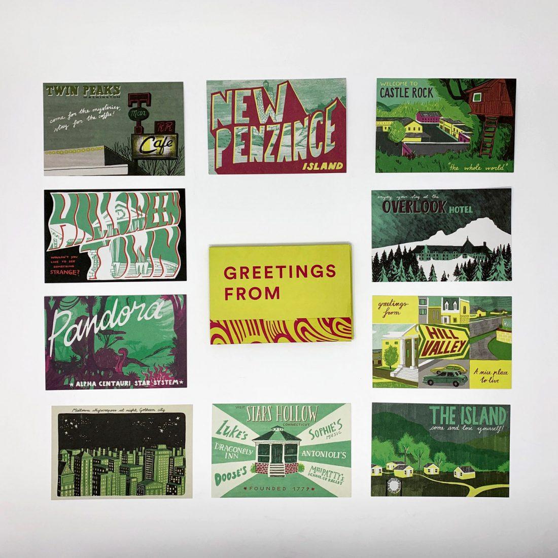 Le dieci cartoline sulle città immaginarie illustrate di Eliana Albertini