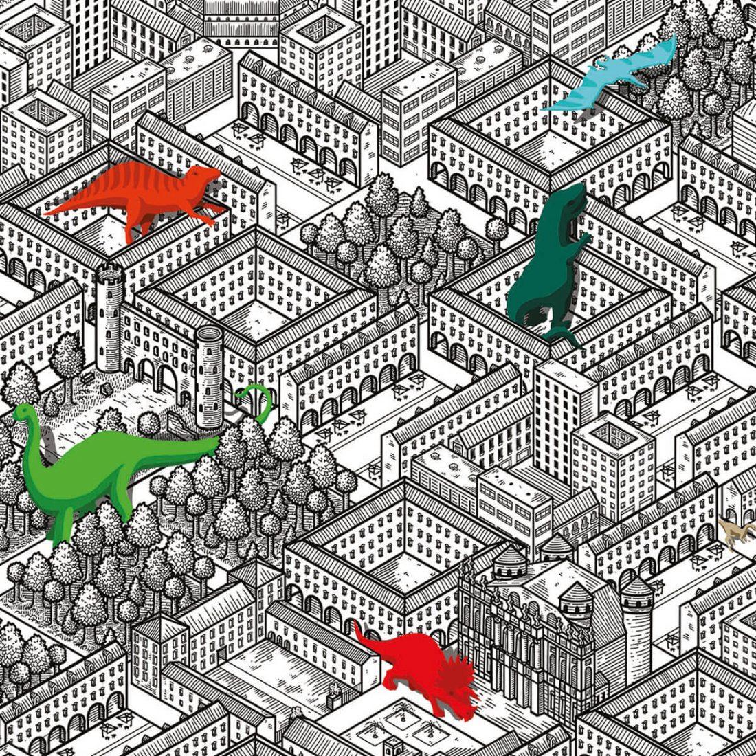 Torinosauri. Il poster in edizione limitata di Matteo Ufocinque Capobianco