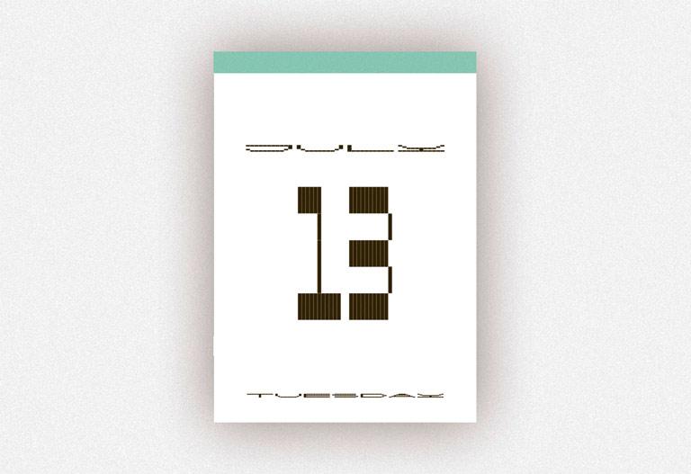 Typodarium 2021. Un calendario e la gioia di guardare oltre
